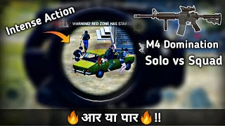M416 is so good in Solo vs Squad Pubg mobile | Intense action fight | Pubg mobile Hindi Gameplay
