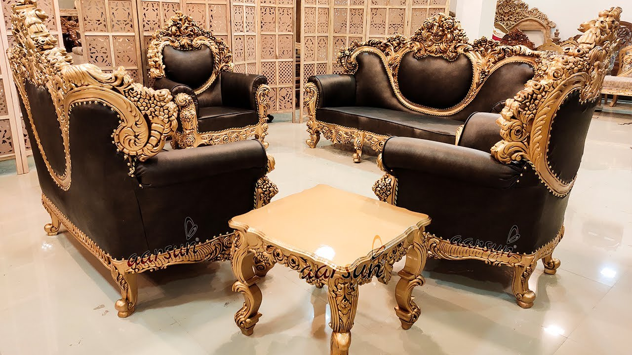#175 Truly a Masterpiece | Fully Carved Wooden Sofa Set | Living Room Furniture @Aarsun Woods