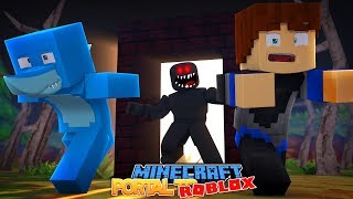 HOW TO BUILD A PORTAL INTO ROBLOX - Minecraft w/ Sharky and Little Kelly