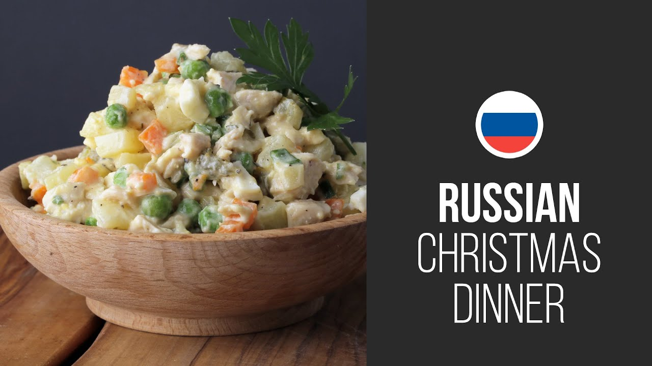 Russian Christmas Traditional Decorations : Famous olivier salad stolichny russian