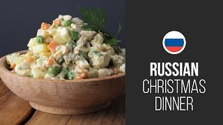 Famous Olivier Salad (stolichny Salad) || Russian Christmas Dinner || Christmas & New Year Recipes
