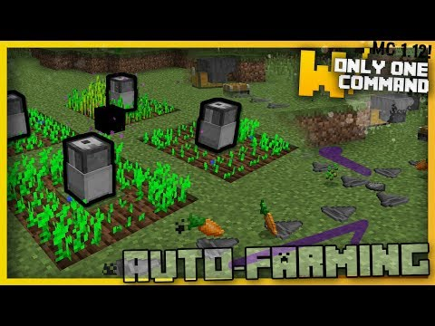 Minecraft - AUTOMATIC FARMING MACHINES With Only Two Command Blocks! (Factorio in Minecraft)
