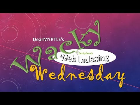 WACKY Wednesday - Indexing