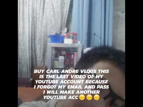 (Buy Carl Andre Vlogs ) Account Forgot😞😞😞