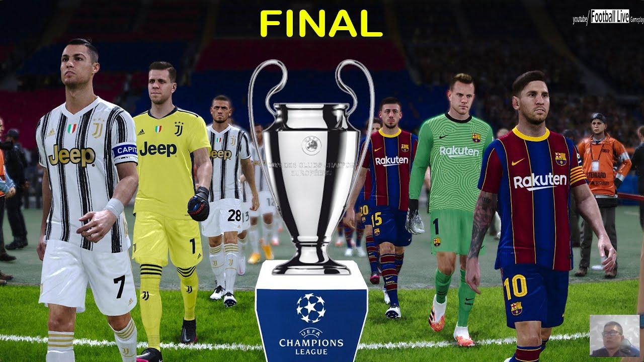 PES 2021 | UEFA Champions League Final | Barcelona vs ...