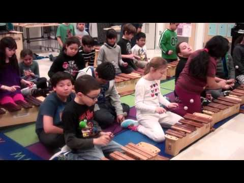 4th Grade Music Class Xylophone Lesson