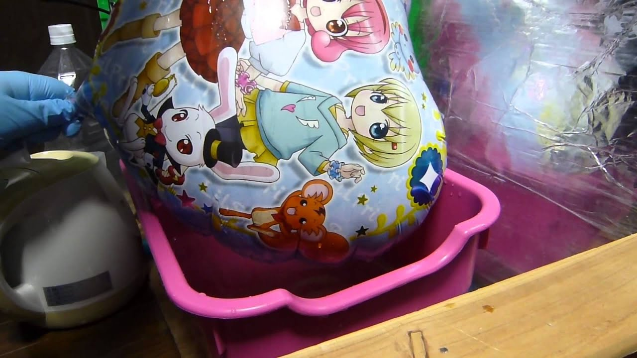 anime print foil balloon heat stretch pop  mistake