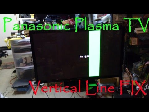 Panasonic Plasma TV TC-P50X5 Vertical Green Bar Line Fix