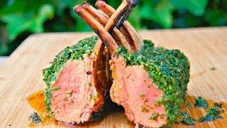 How To Roast A Rack Of Lamb - Lamb Carre - Lamb Chops - Lamb Loin Green Crusted Barbecue Recipe
