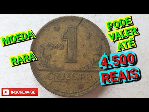 VOCÊ TEM UMA DESSA PODE VALER ATÉ 4.500 REAIS - MOEDA DE 1 CRUZEIRO 1949 - RARÍSSIMA