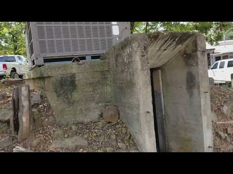 Early 1900's Bunker With An Air Conditioner