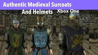 *Reupload* Skyrim SE Xbox One Mods|Authentic Medieval Surcoats And Helmets