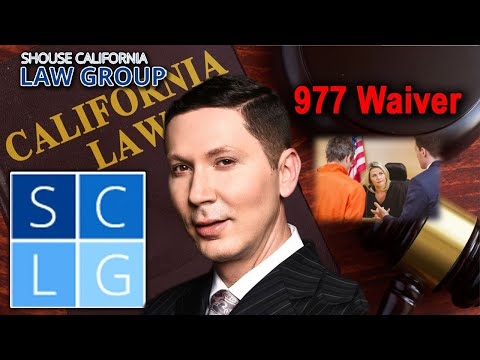 977 Waiver – Can my attorney appear for me in a California criminal case?