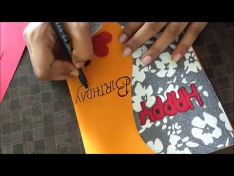Beautiful Handmade Birthday card idea | DIY Birthday greeting card | complete tutorial