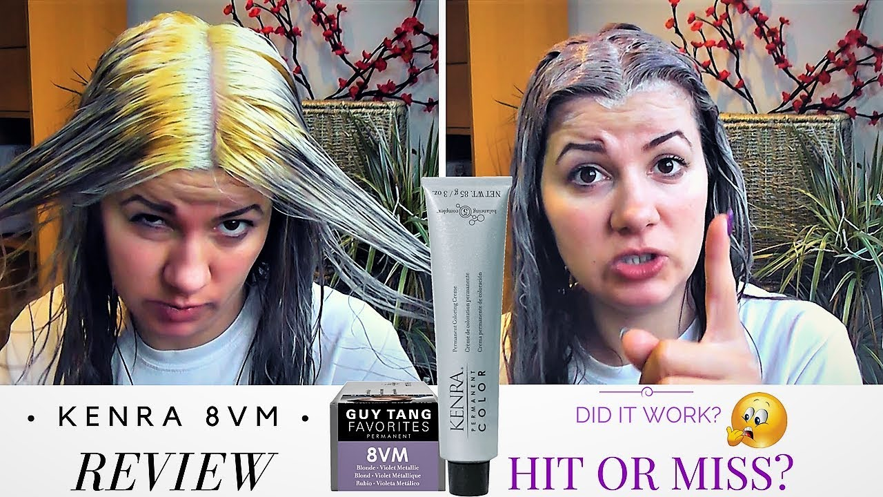 Kenra Hair Color 8vm By Guy Tang Try On And Review 94 Youtube