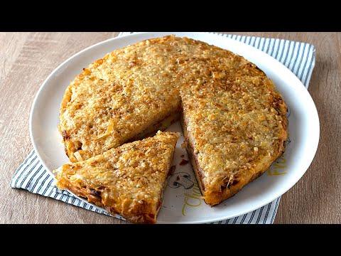 ¡Ni pizza ni empanada! Deliciosa cena con lo que tienes a mano. Muy fácil