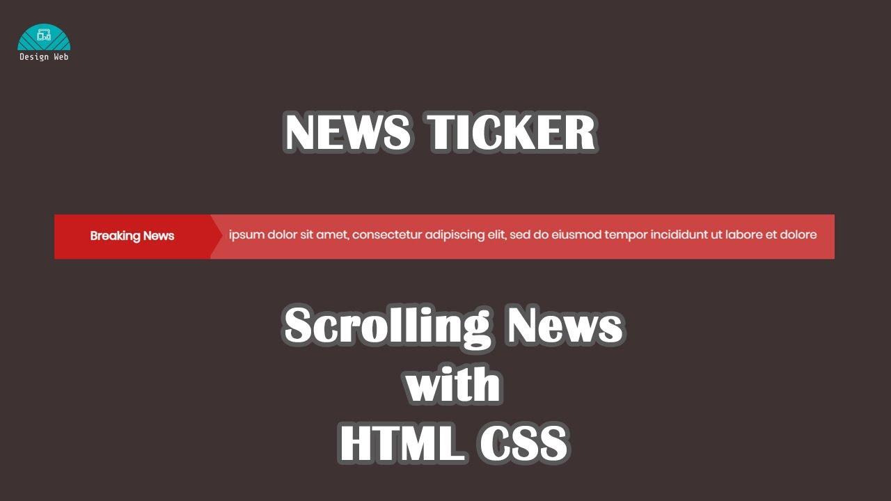 Html Newsticker