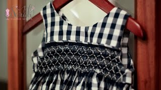 How to block pleated fabric for smocking when sewing | Super easy