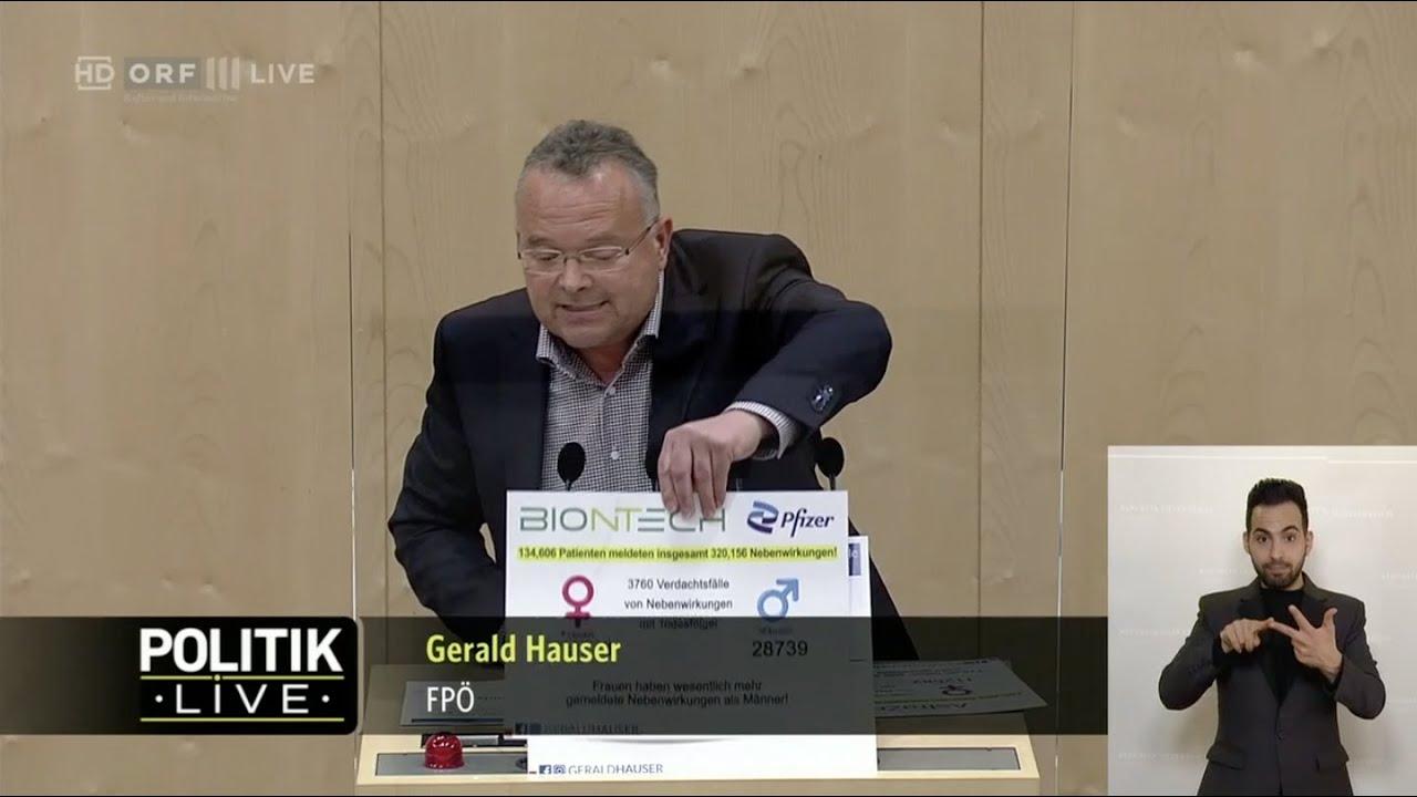 Gerald Hauser - Corona-Impfungen und Nebenwirkungen - 21.4.2021