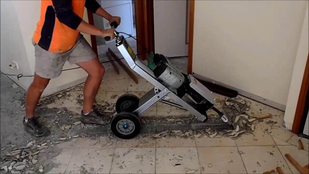 Tile Lifter On Trolley Youtube