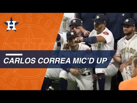 Correa is mic'd up as Astros receive WS rings