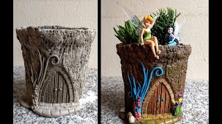 Diy Vaso de Cimento Jardim Secreto   Diy Cement Vessel Secret Garden