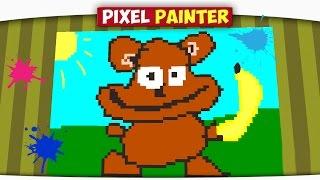 ч.06 Марио, Корова, Обезьяна - Minecraft Pixel Painter