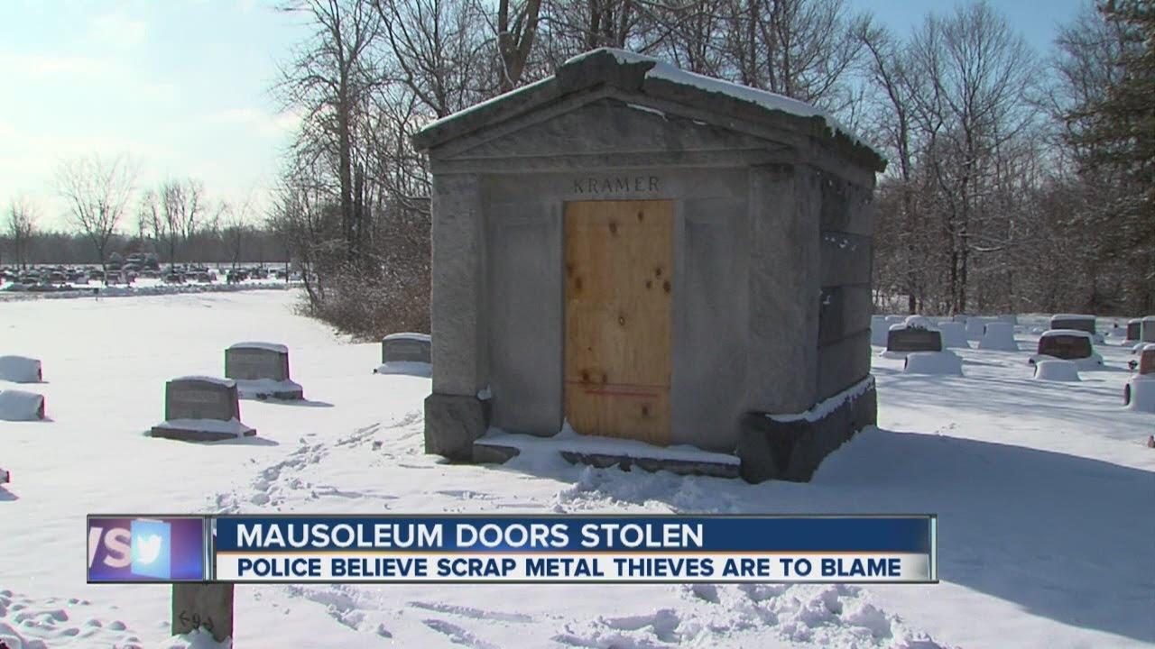 Norwalk mausoleum doors stolen & Norwalk mausoleum doors stolen - YouTube Pezcame.Com