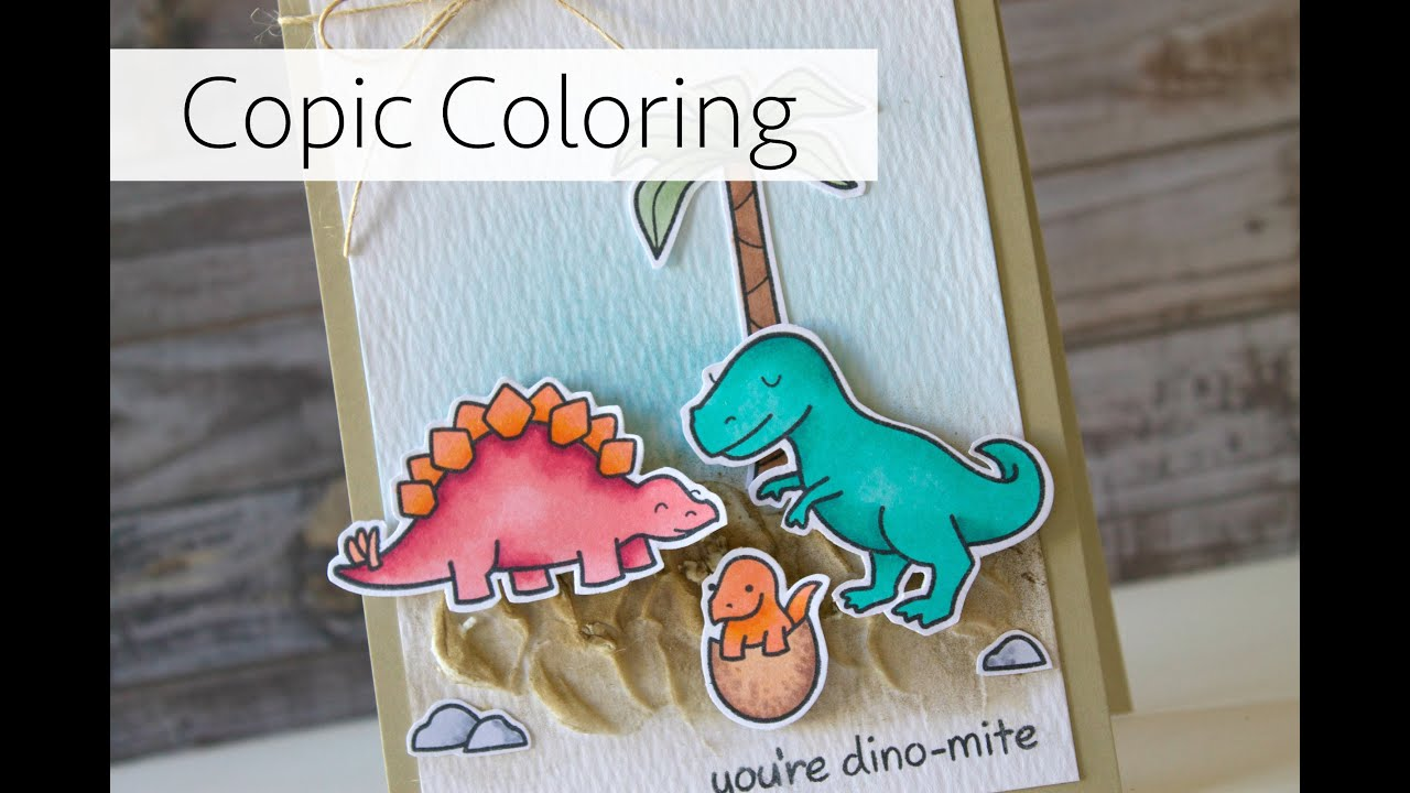 Lawn Fawn + Copic Coloring Card - YouTube
