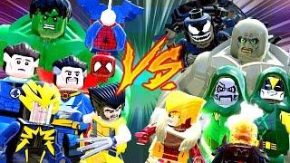 Heróis vs vilões parte 3 - lego marvel super heroes | briga de herois #133