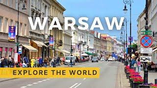 🇵🇱 WARSAW 4K - Sightseeing bus tour 4K, Poland
