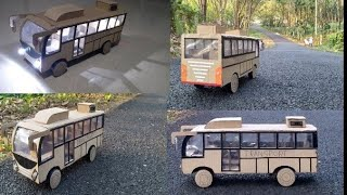 How to make RC Bus from cardboard low Bus