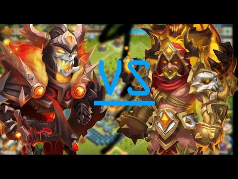 SKULL KNIGHT VS GRIMFIEND!!! ULTIMATE SHOWDOWN 1VS1!!- CASTLE CLASH