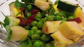 Betty's Healthy Green Pea Salad