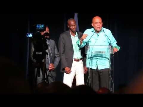Président Joseph Michel Martelly présente Jovenel Moise et le projet de plantation de bananes