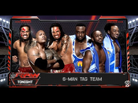 WWE-2K16 The Rock & The Usos vs The New Day 6 Man Tag Team Match On RAW WWE-2K16 (PS4)