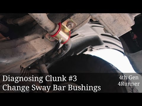Diagnose Clunk #3: Change Sway Bar Bushings
