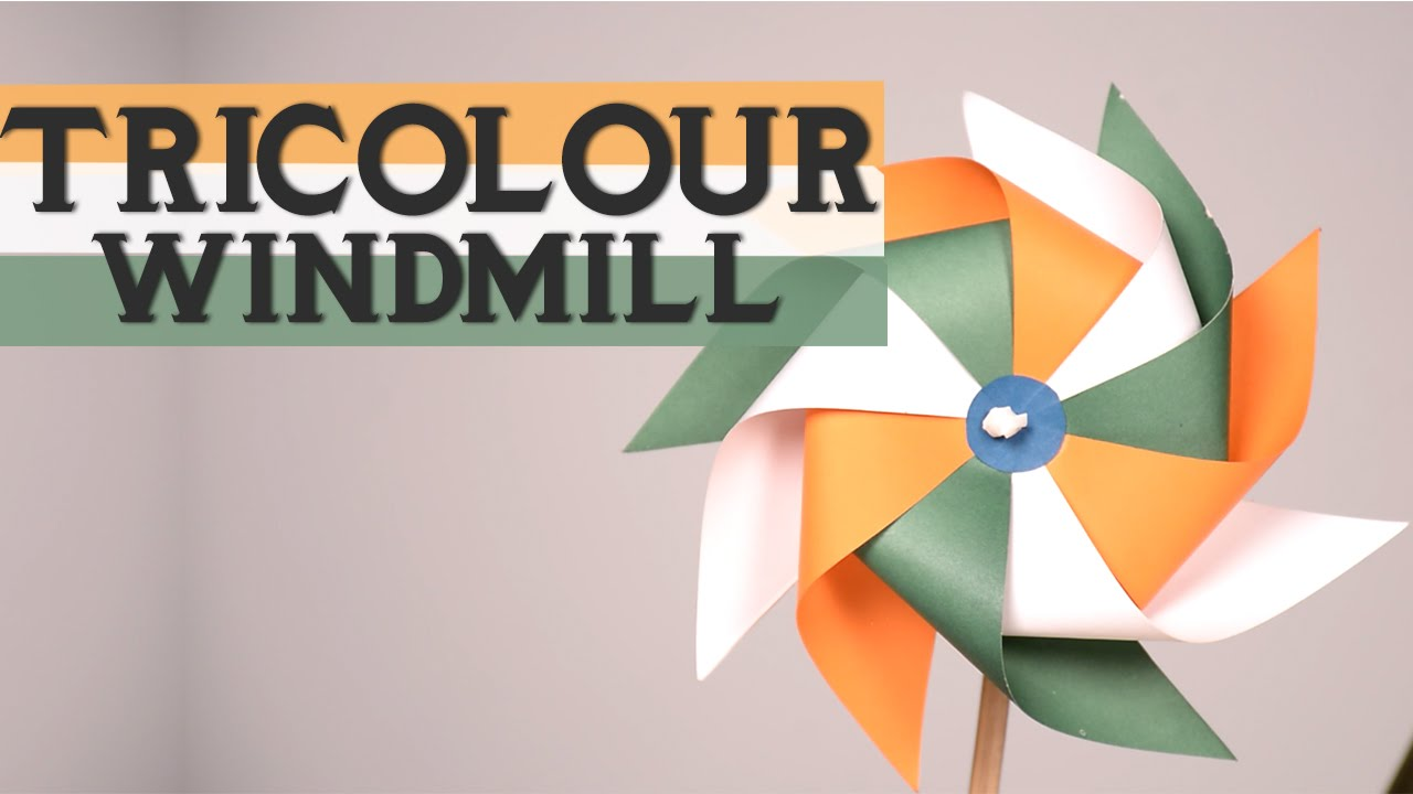 Craft For Flag Of India: Republic Day Special: How To Make Tricolour Windmill