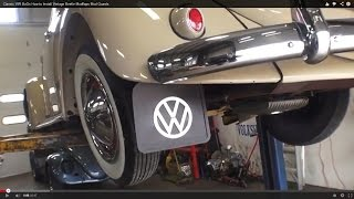 Classic VW BuGs How to Install Vintage Beetle Mudflaps Mud Guards