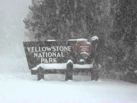 Winter arrives in Yellowstone