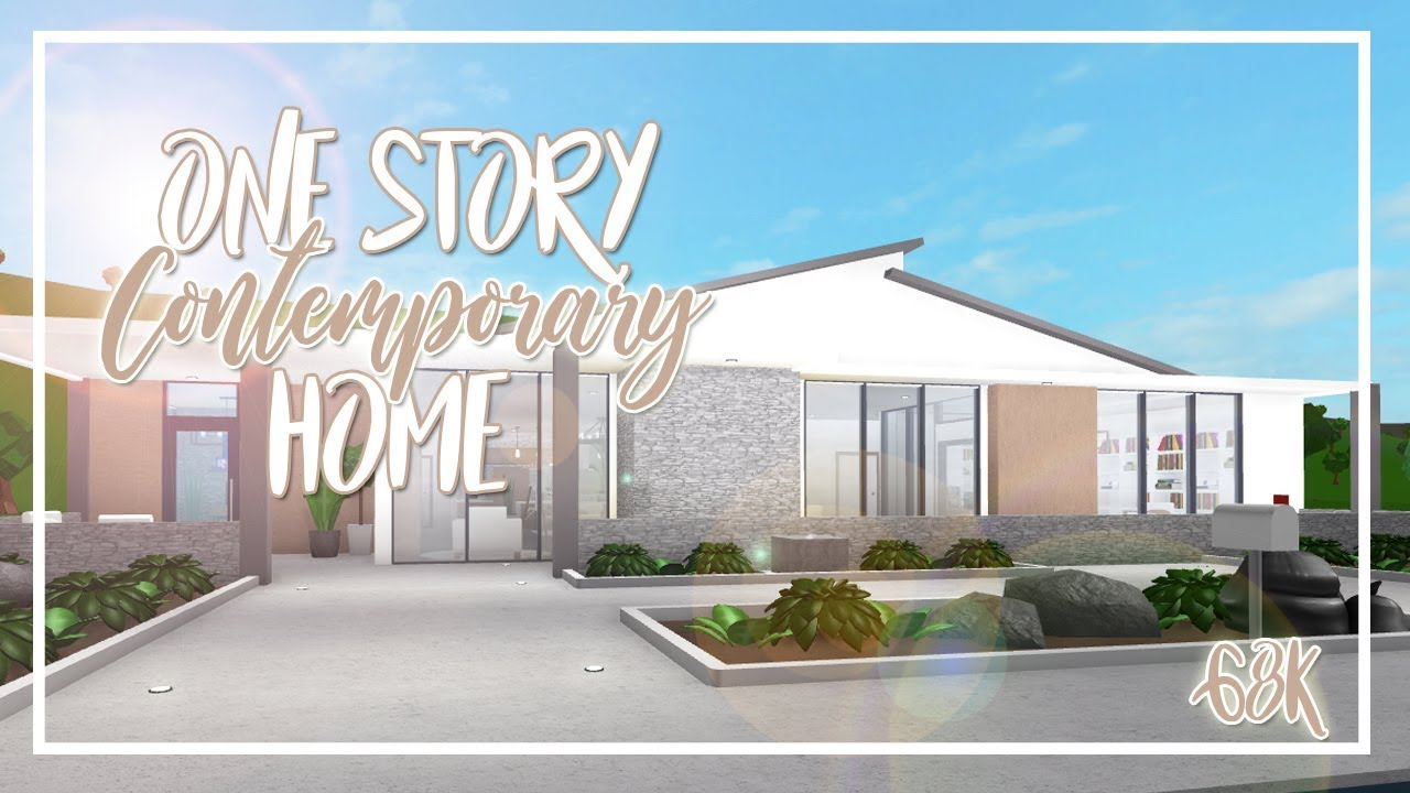 Welcome To Bloxburg 68k One Story Contemporary Home Youtube