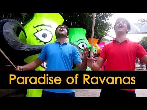 Paradise of Ravanas   Making of Effigies   Titarpur Delhi India