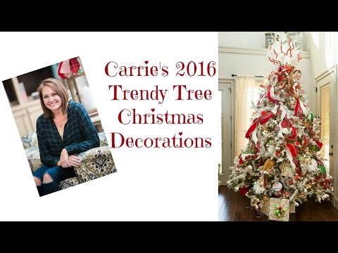 Carrie's 2016 Christmas Decorations - all from Trendy Tree!