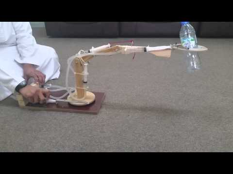 Fluid Project - Hydraulic Syringe Operated Robotic Arm