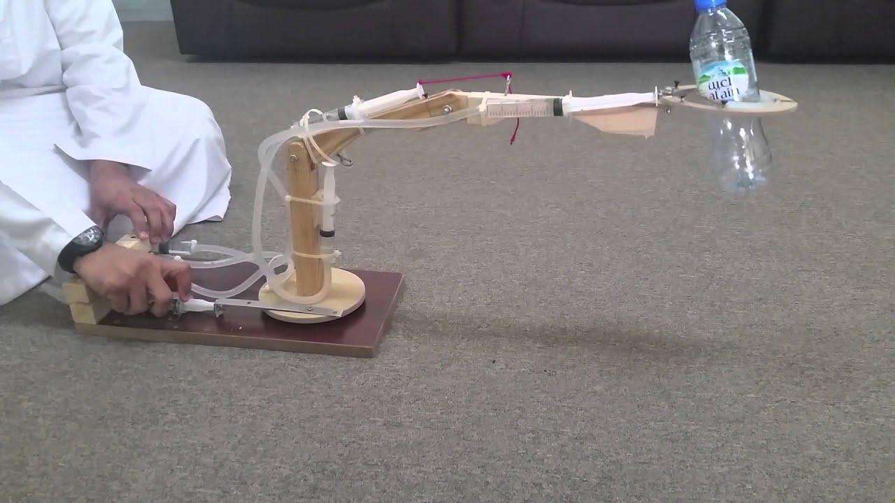 Engineering Mechanical Arm Syringe : Fluid project hydraulic syringe operated robotic arm