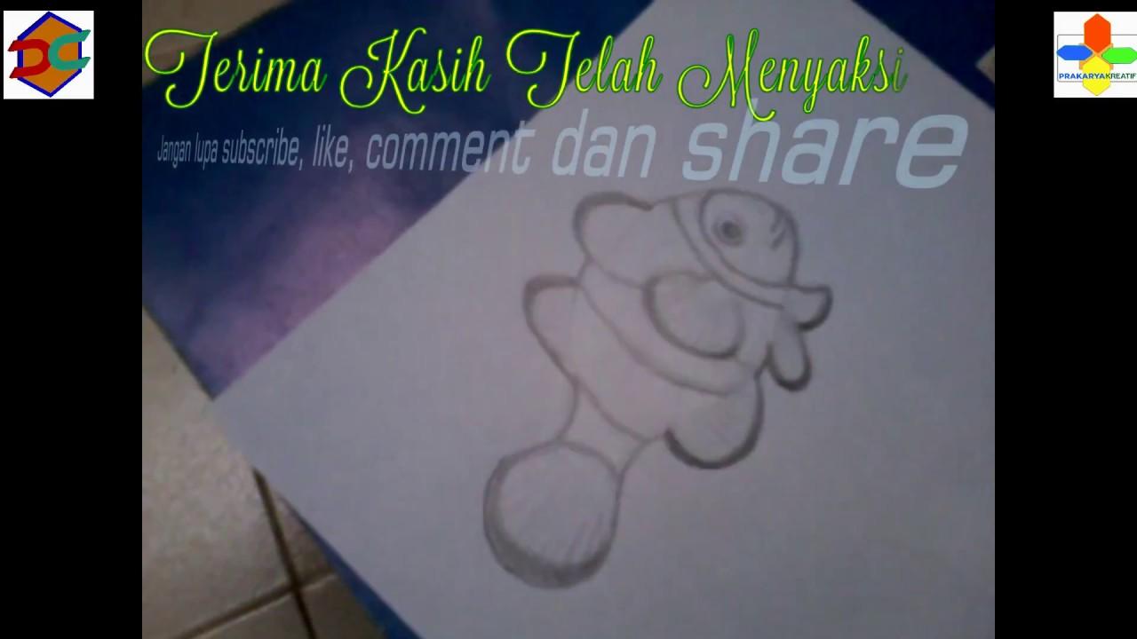 Cara Mudah Membuat Gambar Sketsa Ikan Badut Sketch Of A Clownfish