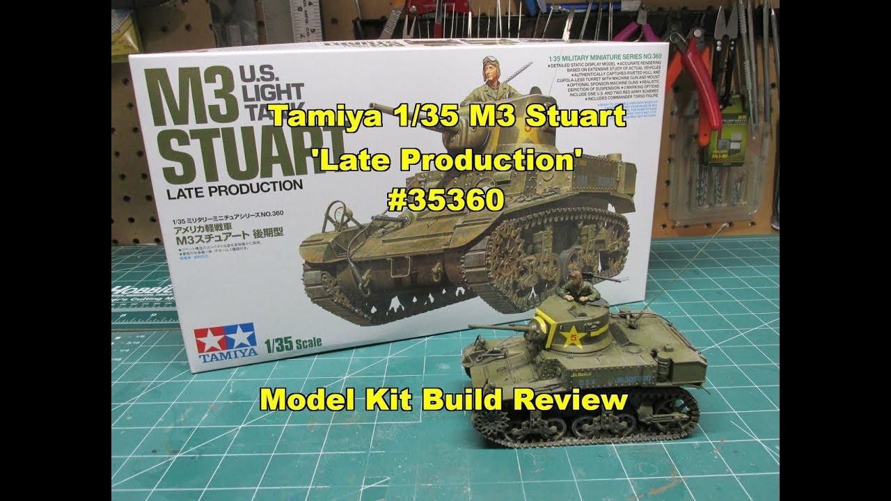 Tamiya 1/35 M3 Stuart Late Production Model Kit Build Review 35360 -  clipzui.com