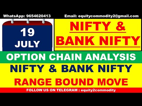 19 JULY NIFTY U0026 BANK NIFTY ANALYSIS | OPTION CHAIN ANALYSIS | TECHNICAL ANALYSIS | NIFTY INTRADAY