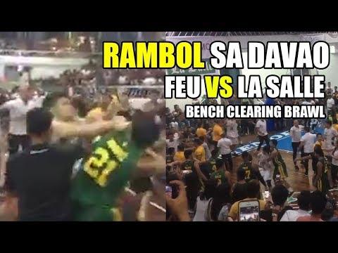 RAMBULAN SA DAVAO | FEU vs La Salle bench-clearing brawl