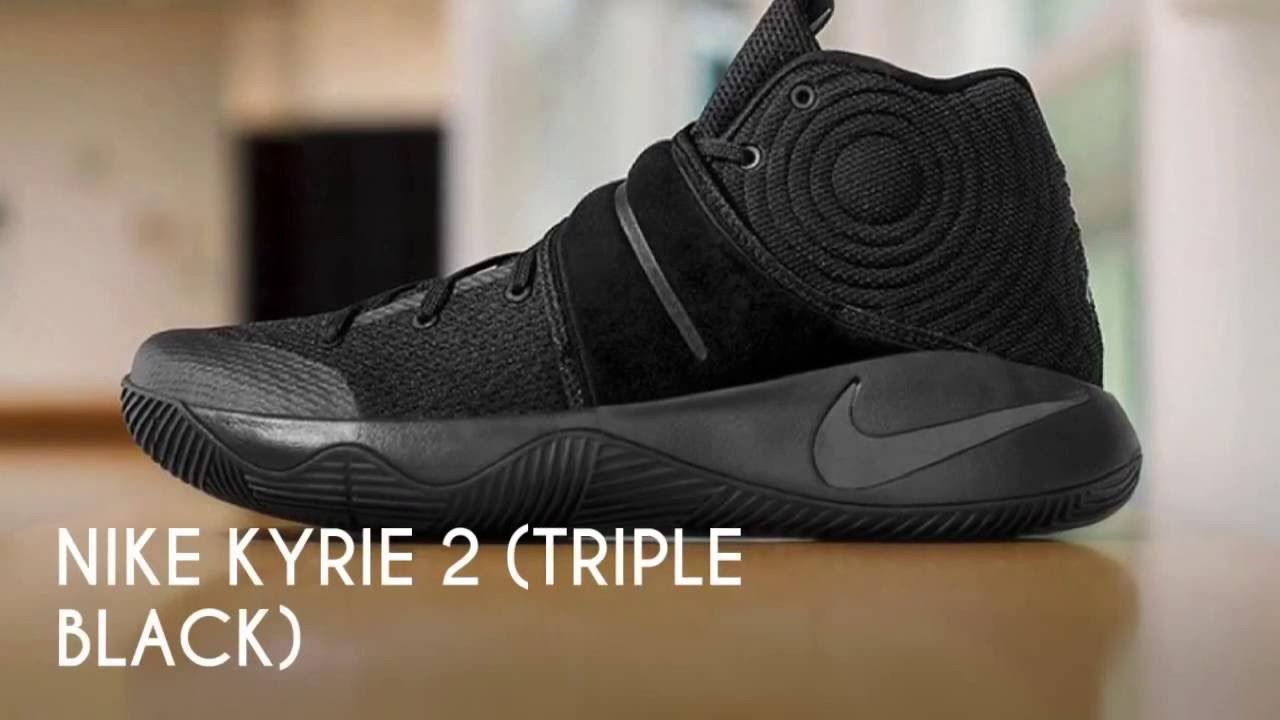 buy online 35999 48684 NIKE KYRIE 2 (TRIPLE BLACK)/ S SNEAKERS - YouTube